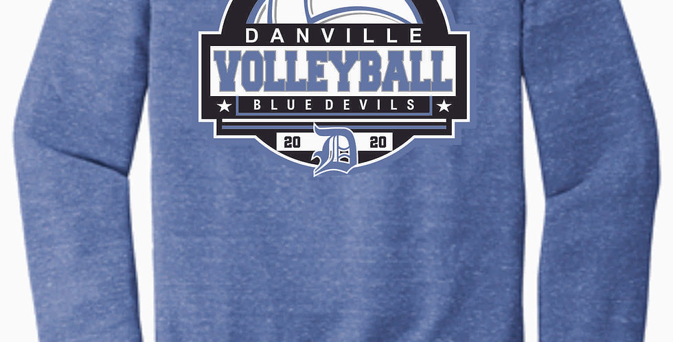 Danville Volleyball Royal Jerzee Vintage Snow Heather Crewneck
