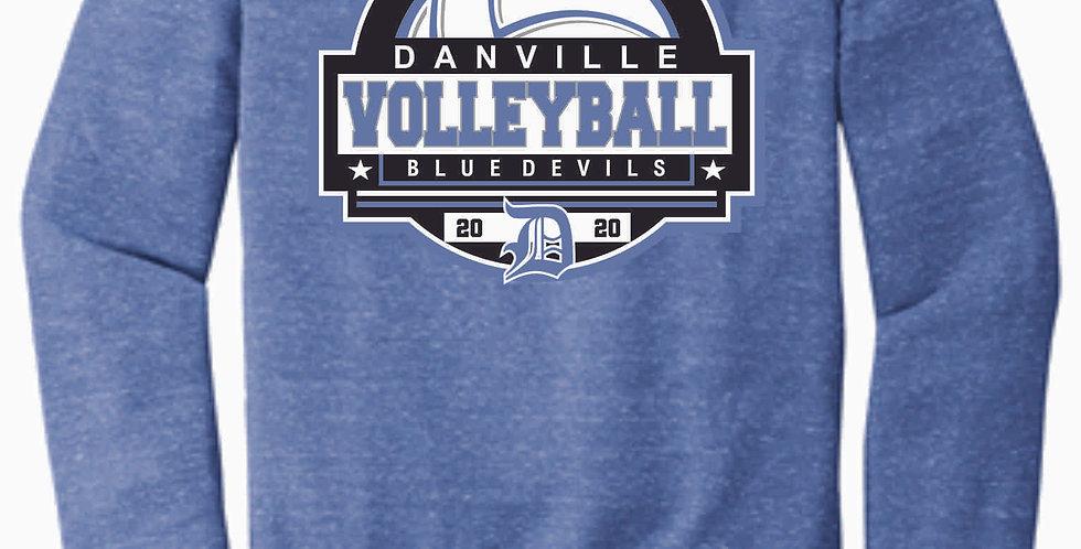 Danville Volleyball Royal Jerzee Vintage Snow Heather Crewneck