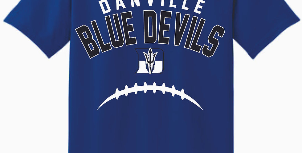 Danville Football Royal Cotton T Shirt