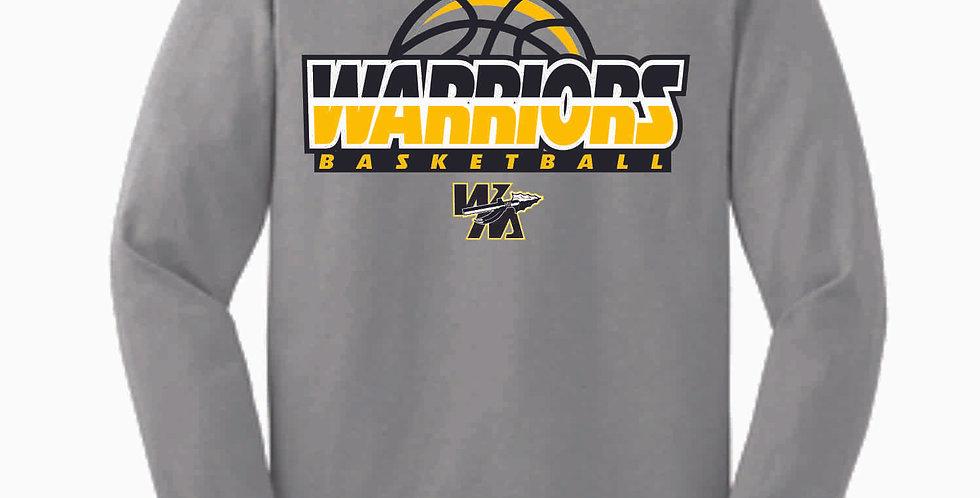 Watkins Youth Basketball Grey Cotton Longsleeve Tee