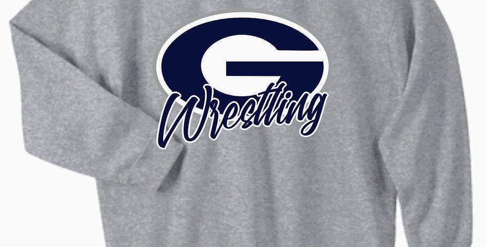 Granville Wrestling Grey Simple Crewneck