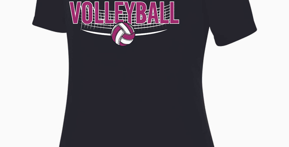 Aces Volleyball Original Black Women's V Neck Poly Tee