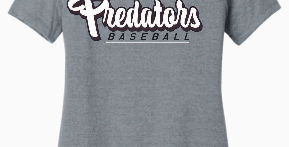 Predators Grey Script Ladies T Shirt