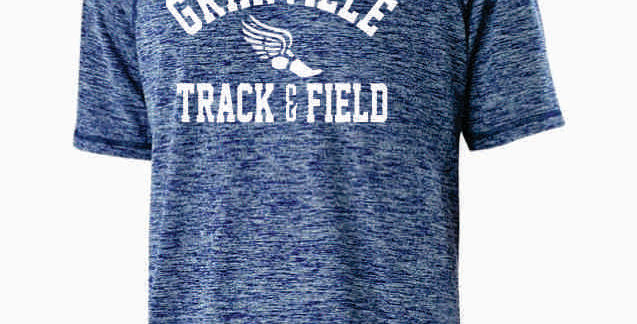 Granville Track and Field Navy Dri Fit Shortsleeve