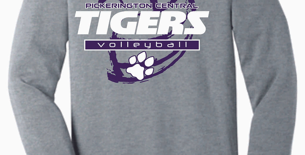 Tiger Volleyball Grey Ball Soft Longsleeve