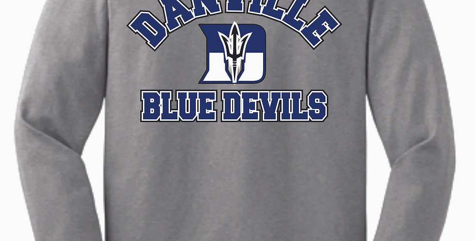 Danville Softball Grey Cotton Longsleeve Tee