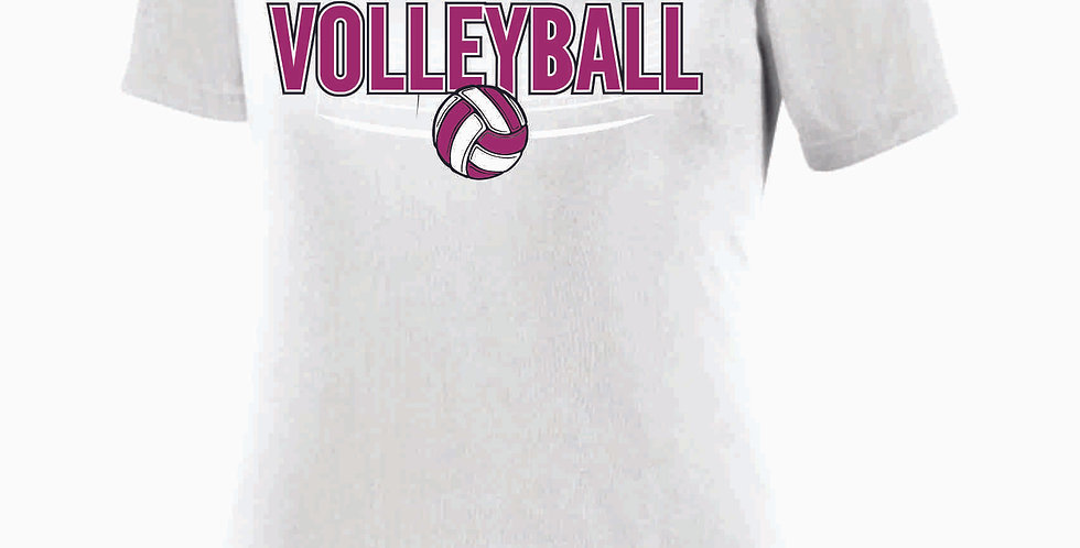 Aces Volleyball Original White Women's V Neck Poly Tee