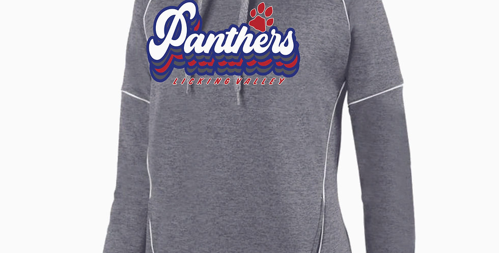 Licking Valley Ladies Grey Script Poly Hood