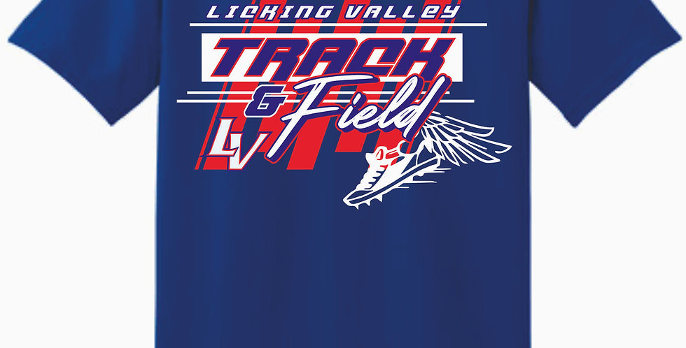 Licking Valley Track and Field Royal Cotton T Shirt