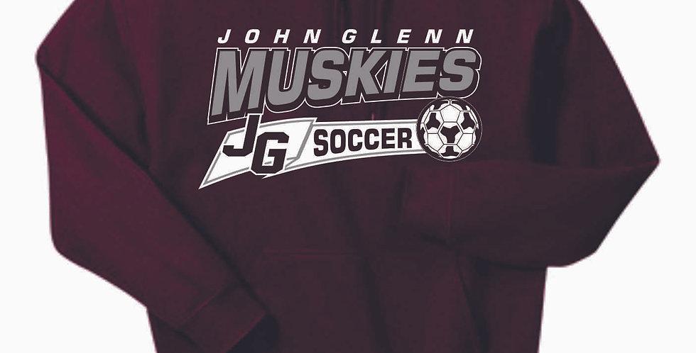 John Glenn Soccer Maroon Cotton Hoody