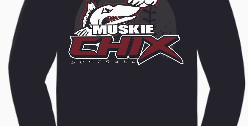 Muskie Chix Black Cotton Longsleeve