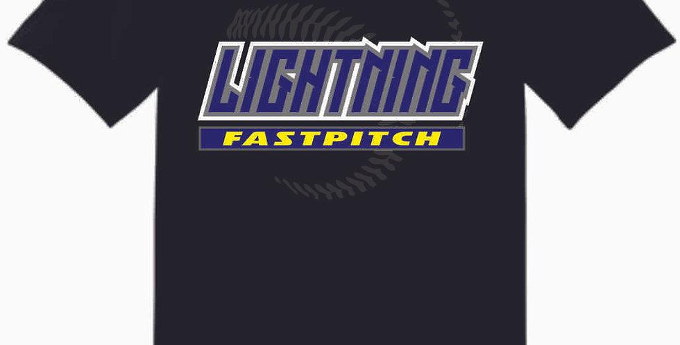 Lightning Black Cotton T Shirt