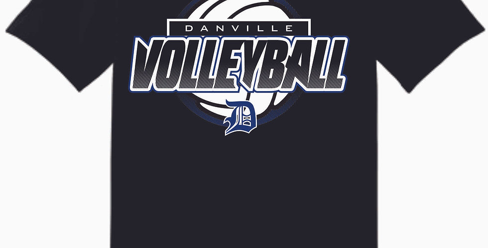 Danville Volleyball Black Cotton T Shirt