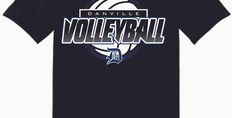 Danville Volleyball Black Cotton T Shirt