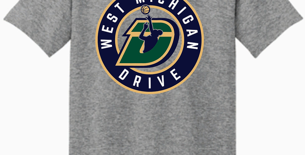 The Drive Grey Gildan Cotton T Shirt