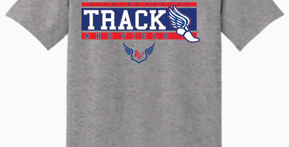 Licking Valley Track Grey Cotton T Shirt