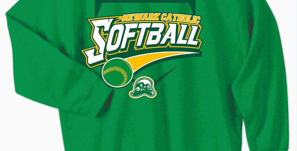 Newark Catholic Softball Kelly Green Cotton Crewneck