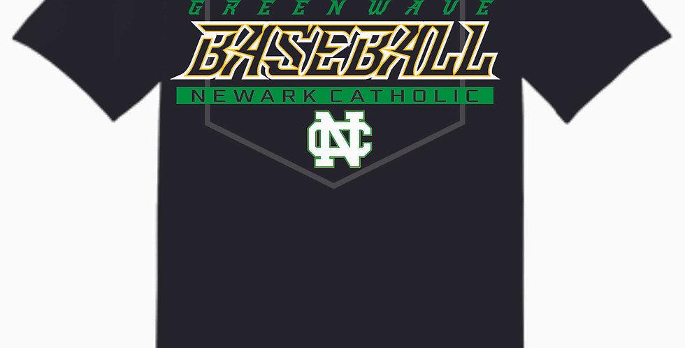 Newark Catholic Baseball Black Cotton T Shirt