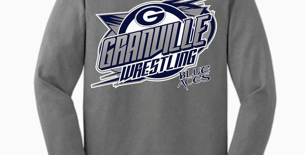 Granville Wrestling Grey Longsleeve T Shirt