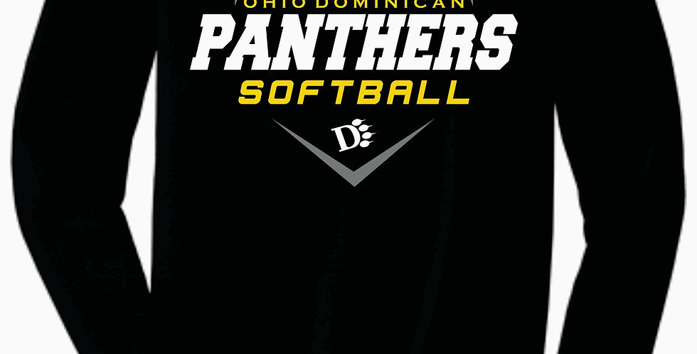 ODU Softball Bella Canvas Soft Black Cotton Longsleev
