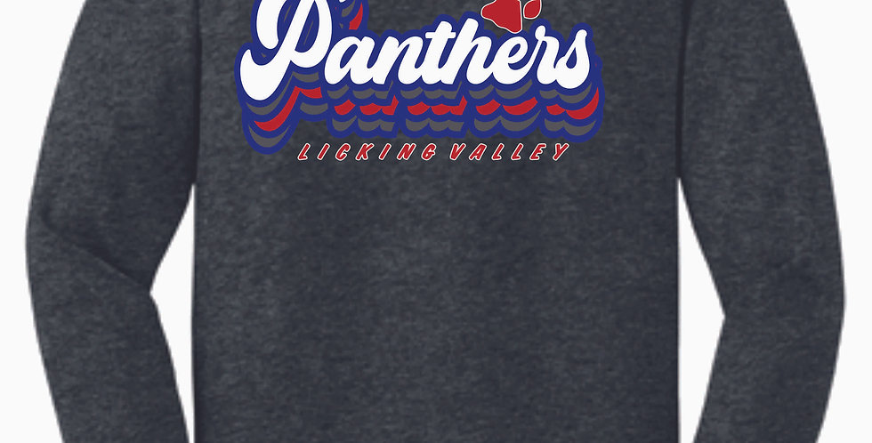 Licking Valley Dk Grey Script Longsleeve T Shirt