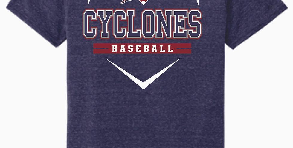 Cyclones Navy Jerzee Snow Heather T shirt