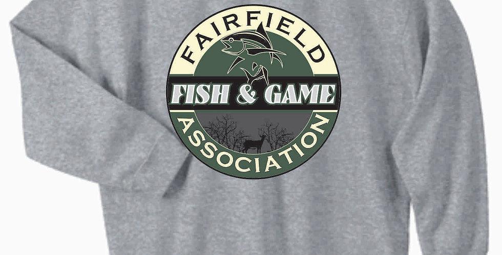 Fairfield Fish and Game Grey Gildan Cotton Crewneck