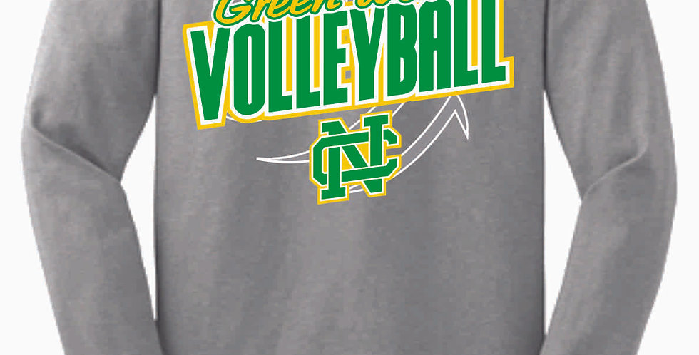 NC Volleyball Sport Grey Cotton Longsleeve