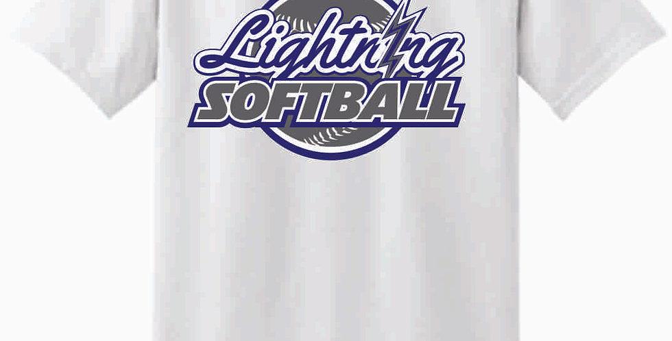 Lightning White Cotton T Shirt