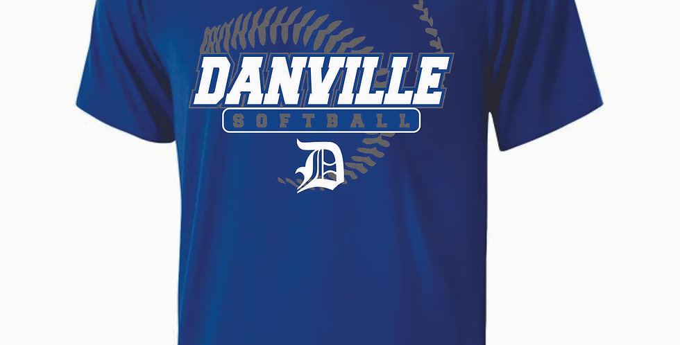 Danville Softball Royal Dri Fit Shortsleeve