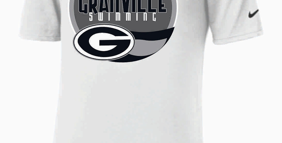 GHS Swimming White Nike Core Cotton T-Shirt
