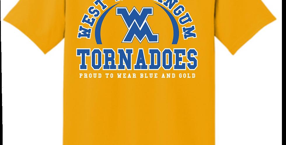 West M Gold Cotton T Shirt