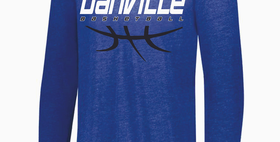 Danville Basketball Royal Tri Blend Longsleeve