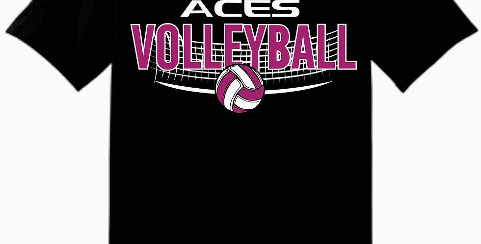 Aces Volleyball Gildan Black Practice Cotton T shirt