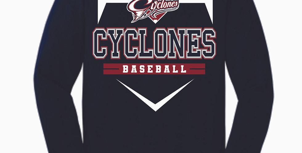 Cyclones Baseball Navy Cotton Longsleeve