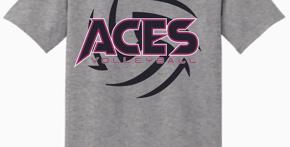 Aces Volleyball  Grey T Shirt
