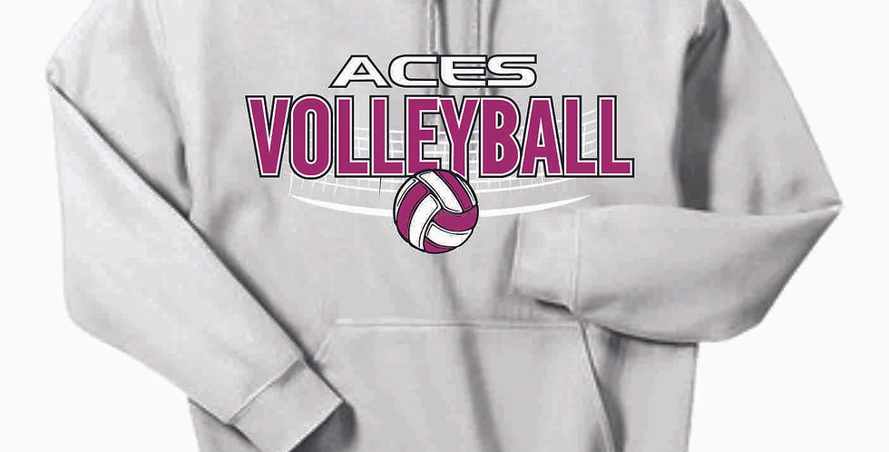 Aces Volleyball Original Ash Grey Hoody