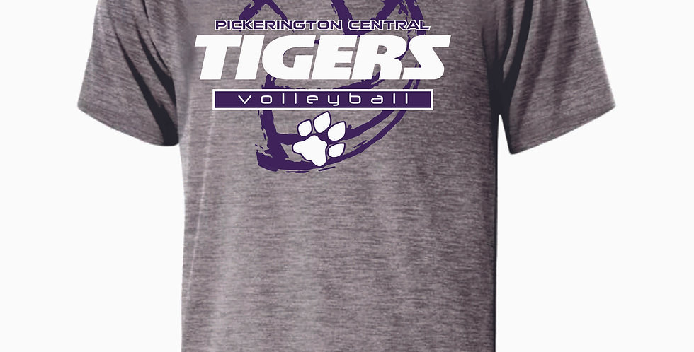 Tiger Volleyball Grey Ball Shortsleeve Dri Fit
