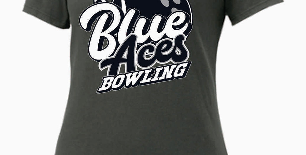 GHS Nike Bowling Grey Ladies Core Cotton Scoop Neck Tee