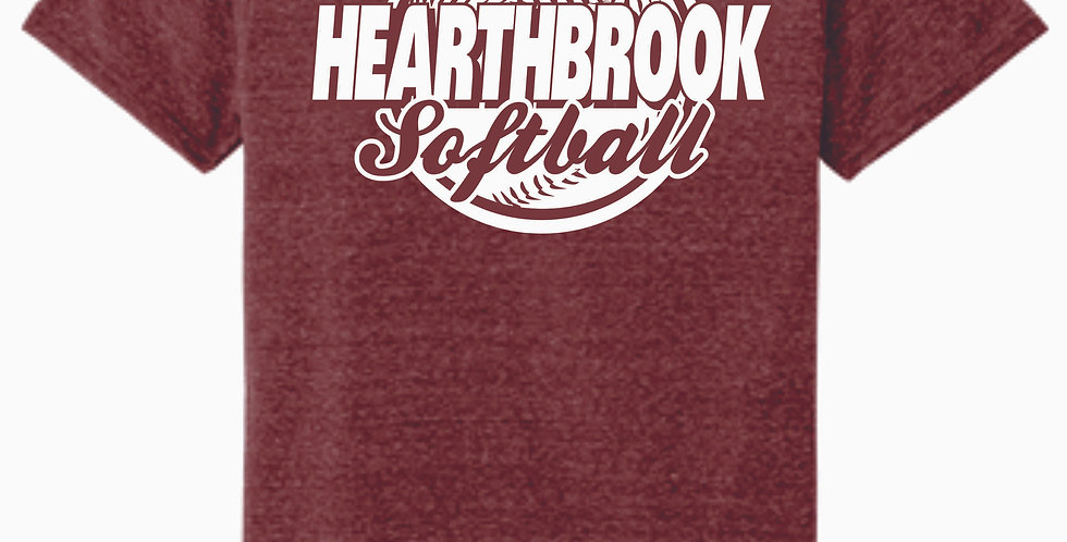 Newark Youth Softball Hearthbrook Maroon Soft T Shirt