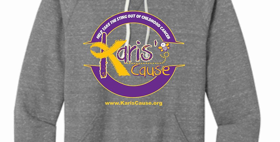Karis's Cause Circle Design Grey Snow Heather Hoody
