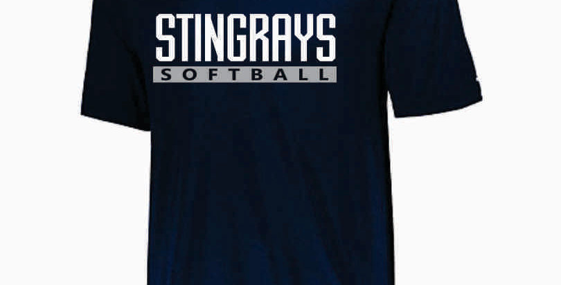 Rays Navy Short Sleeve Dri Fit