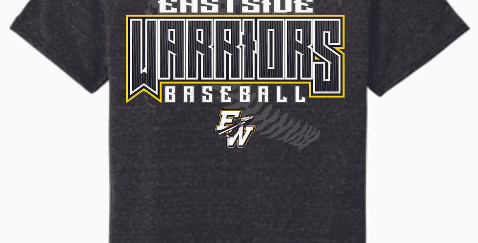 Eastside Warriors Black Jerzee Snow Heather Black T shirt
