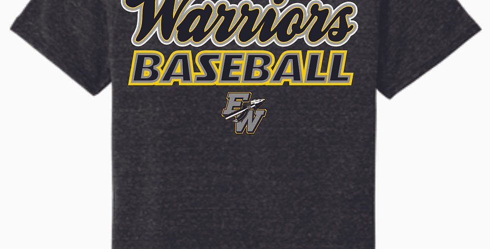 Eastside Warriors Black Script Jerzee Snow Heather Black T shirt