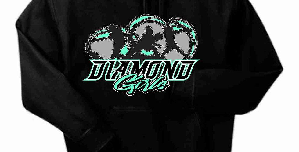 Diamond Girls Black Cotton Hoody