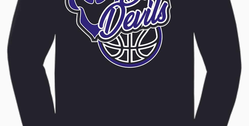 Danville Basketball Black Cotton Longsleeve Tee