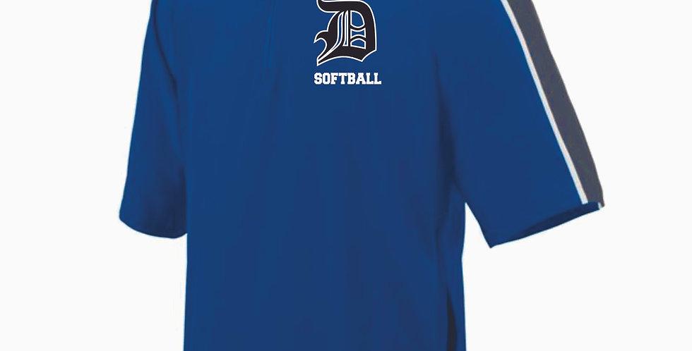 Danville Softball 1/4 Zip Short Sleeve Pullover