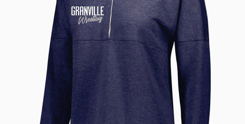 Granville Wrestling Ladies Navy Sophomore Pullover