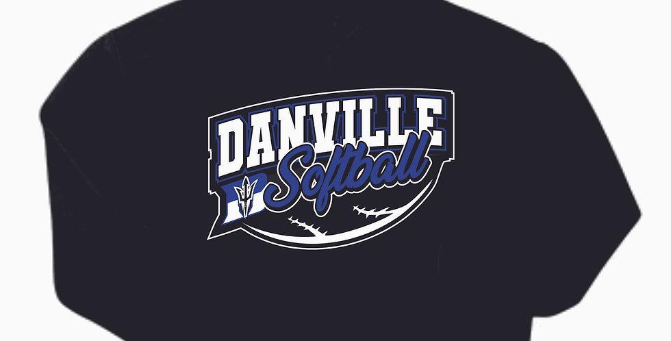 Danville Softball Black Gildan Cotton Hoody