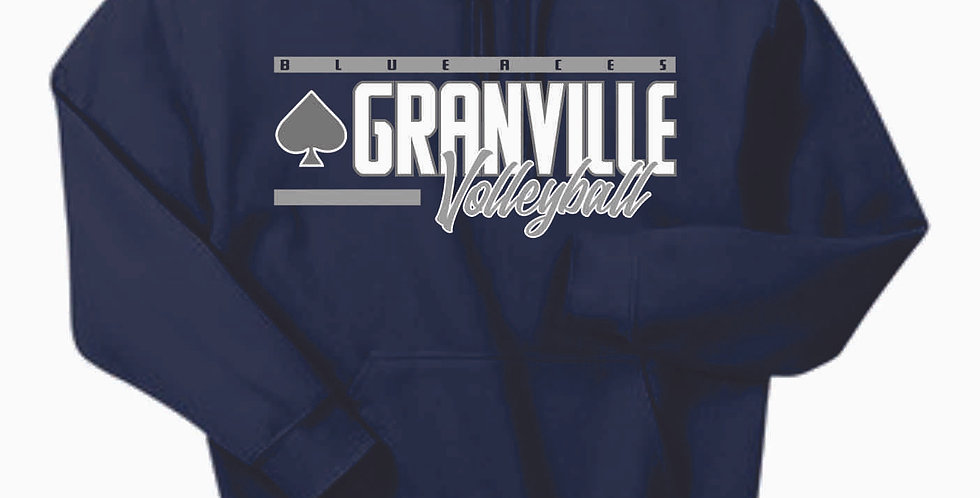 Granville Volleyball Navy Cotton Hoody
